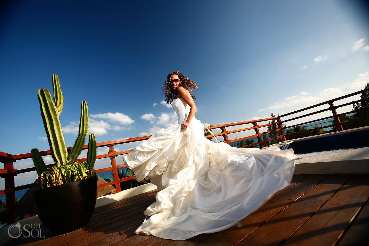 Riviera Maya bride trash the dress Mexico
