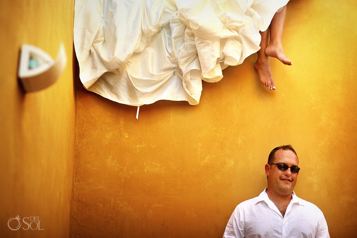 Riviera Maya wedding trash the dress Mexico