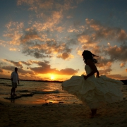 Riviera Maya wedding beach trash the dress Mexico
