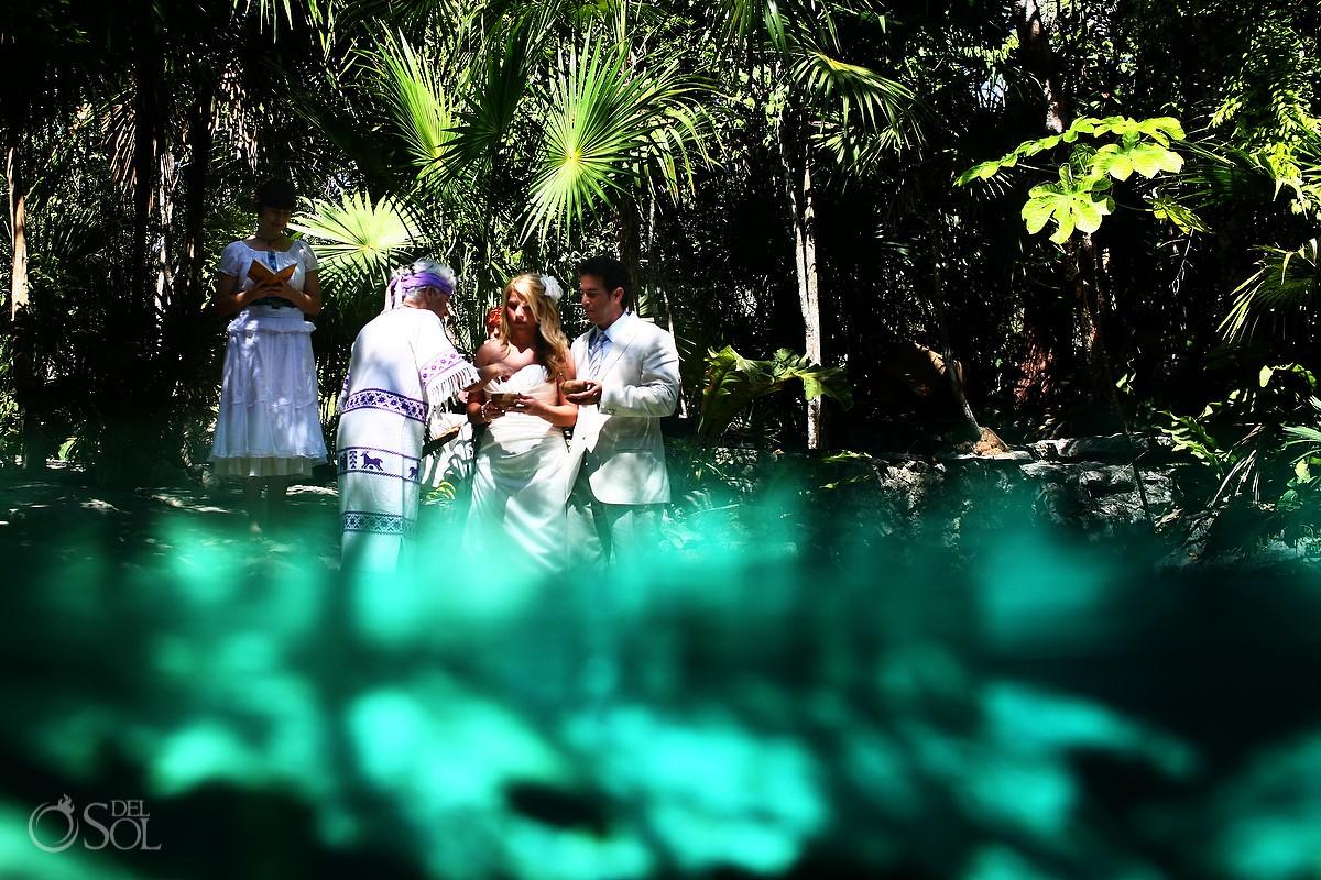 Cenote Cosmic Wedding photo