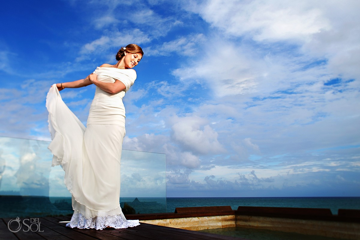 Rosewood Mayakoba Destination Wedding Bride photo