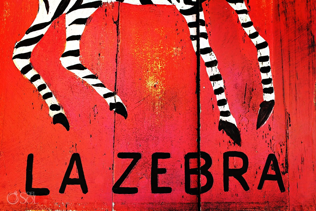 la zebra destination wedding sign