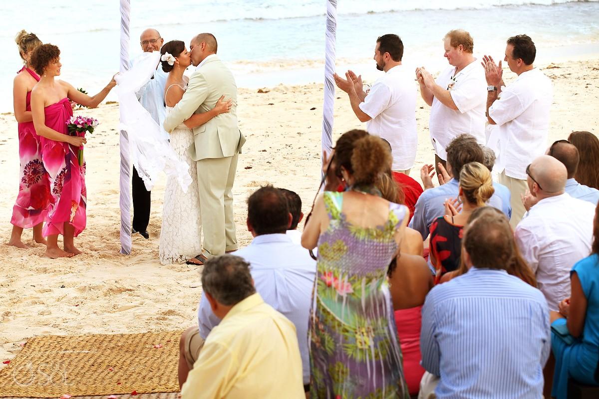 la zebra destination wedding beach ceremony