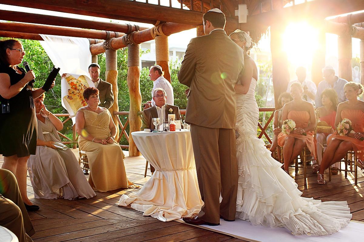 Bride and groom gazebo Wedding at Paradisus La Esmeralda