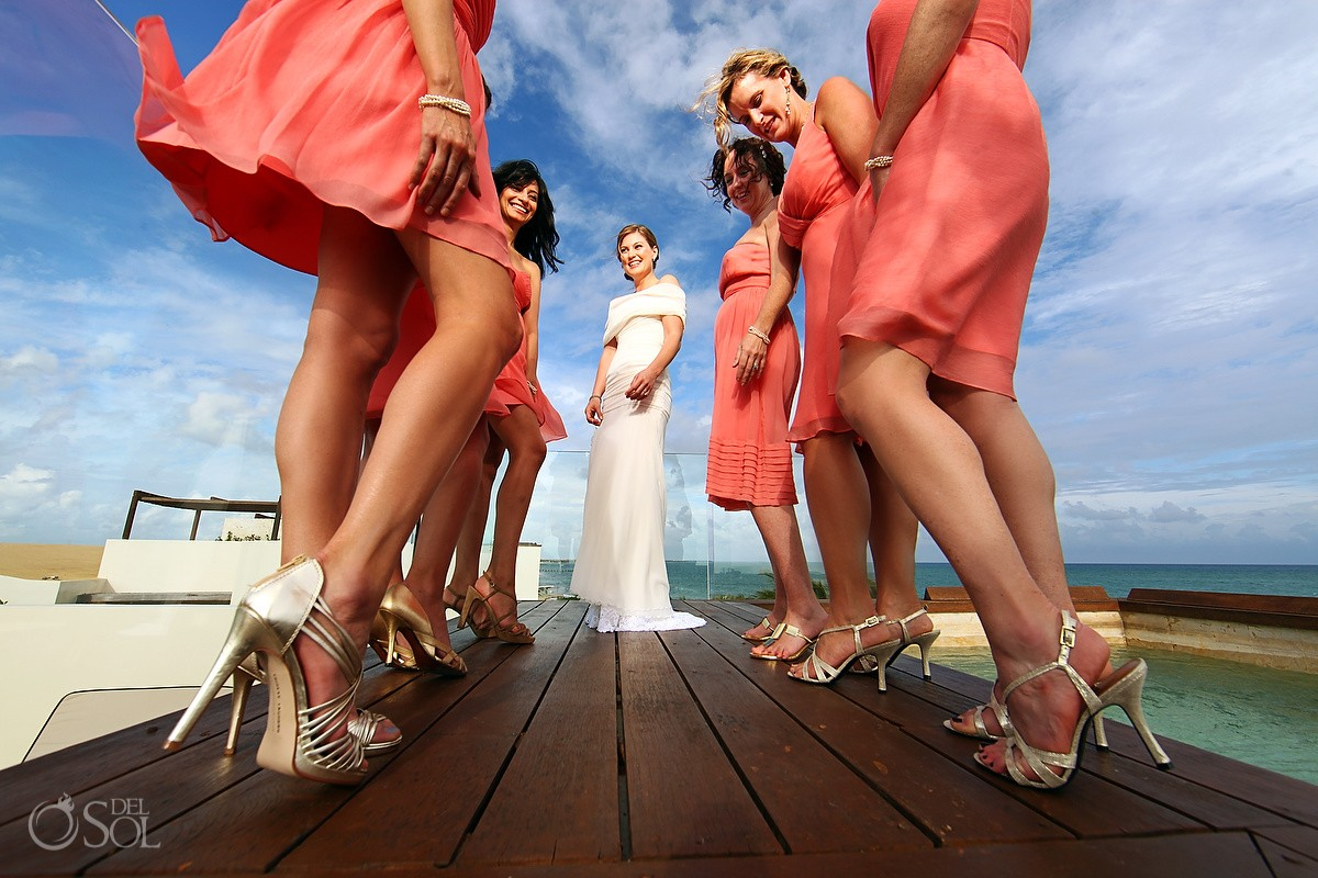 Rosewood Mayakoba Destination Wedding Bridesmaids