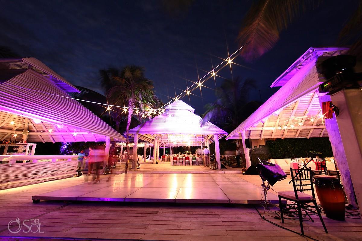 Rosewood Mayakoba Destination Wedding Reception at Mk Blue