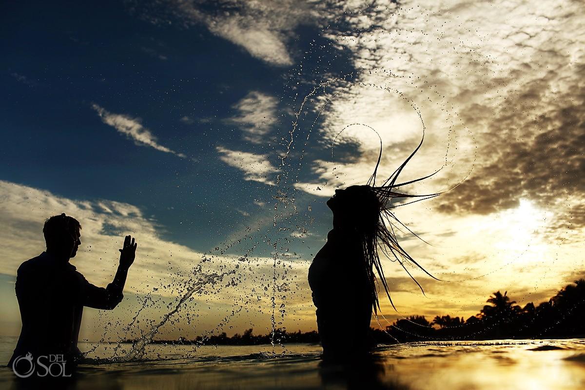 Riviera Maya trash the dress award-winning photographers Del Sol Photography