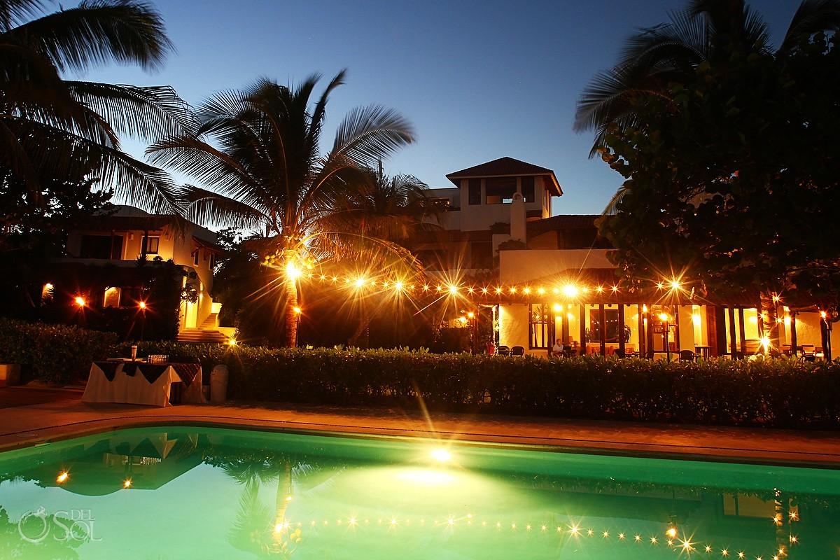 Hotel Esencia Riviera Maya pool wedding venue