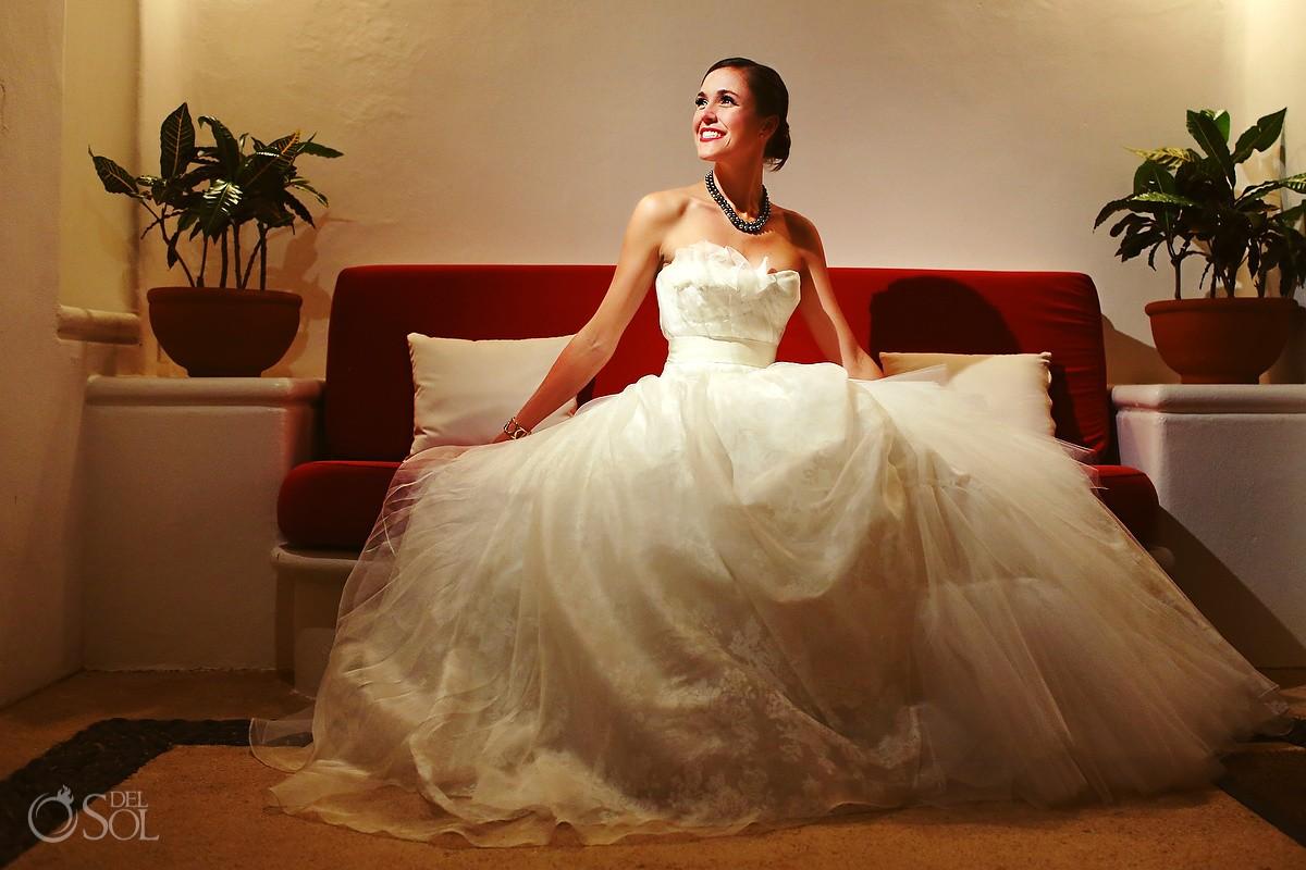 Hotel Esencia wedding bride portrait Riviera Maya