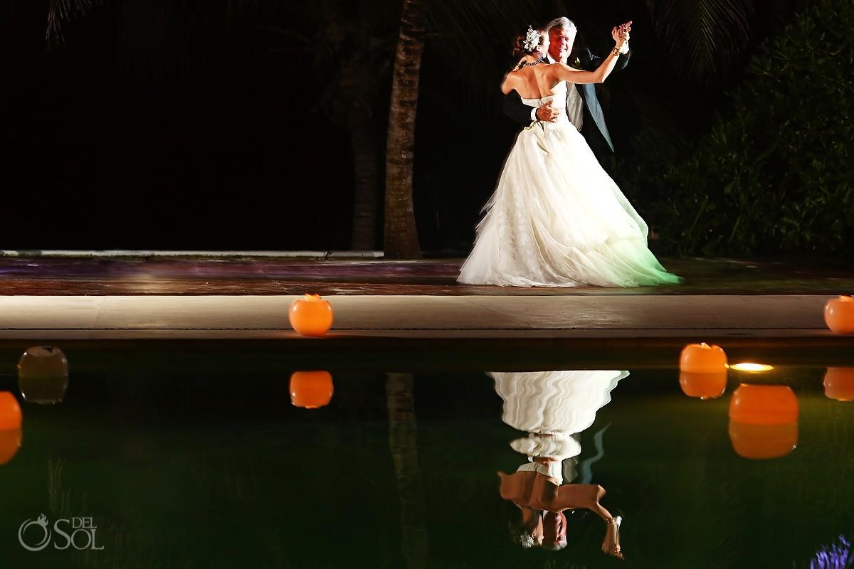 hotel esencia weddings first dance