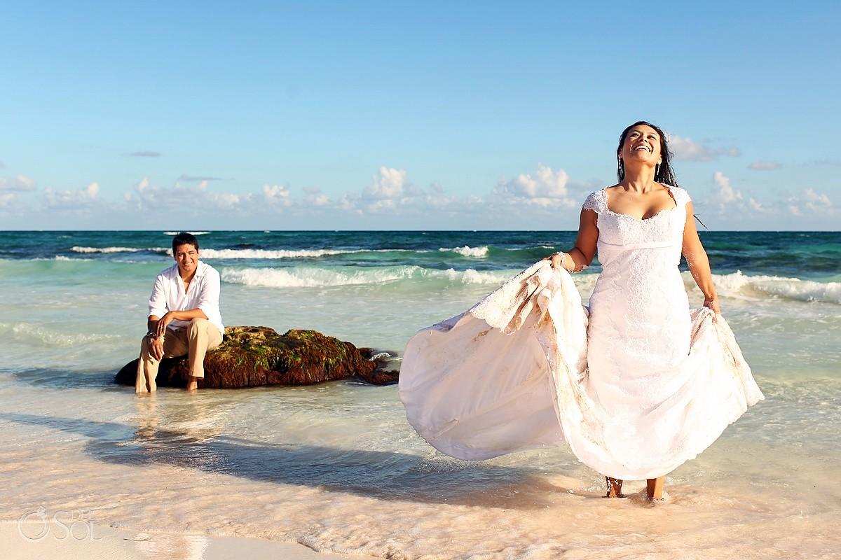 Riviera Maya Photography Cenote and Beach Trash the Dress - Marisol ...