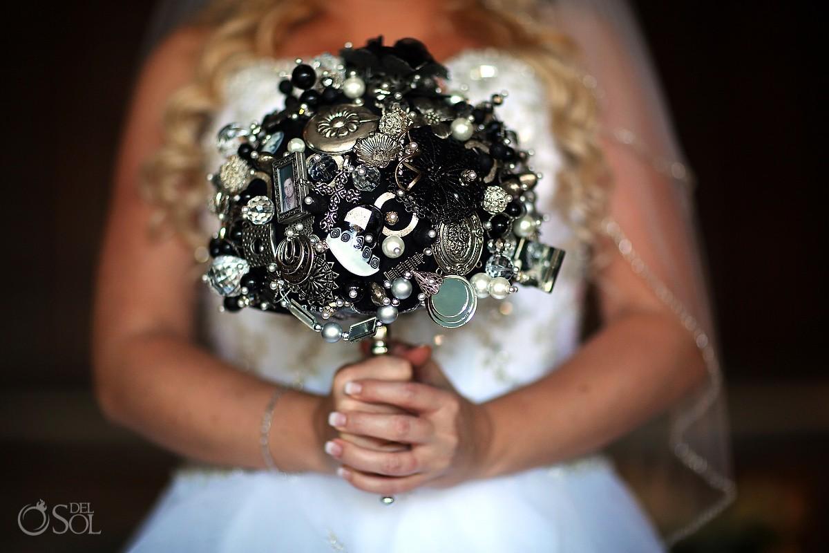 Check out Melissa's unique brooch bouquet dreams destination wedding