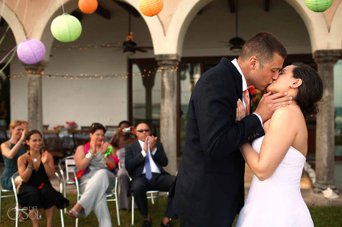 First Kiss Hacienda del Mar Destination Wedding