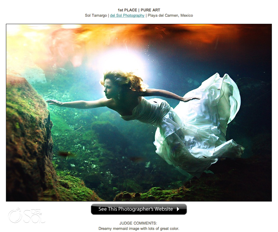 Wedding photography awards Sol Tamargo Del Sol Photography underwater