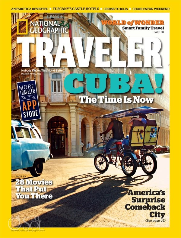 Del Sol Photography on the cover of National Geographic Traveler