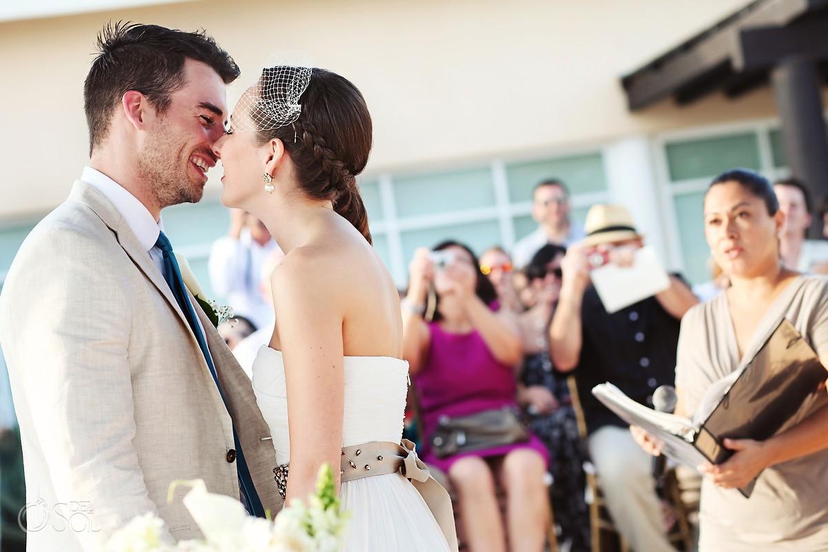 Now Jade Destination Wedding first kiss