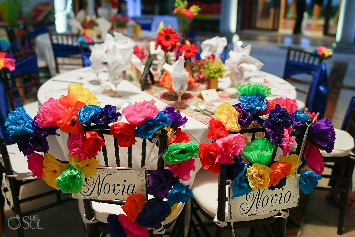 Table details - Wedding Hacienda del Mar reception setups