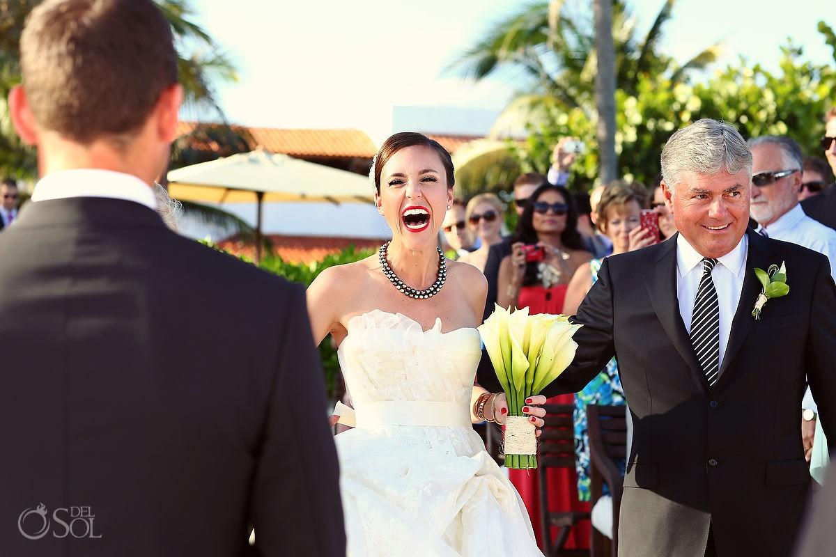Hotel Esencia wedding Riviera Maya beach