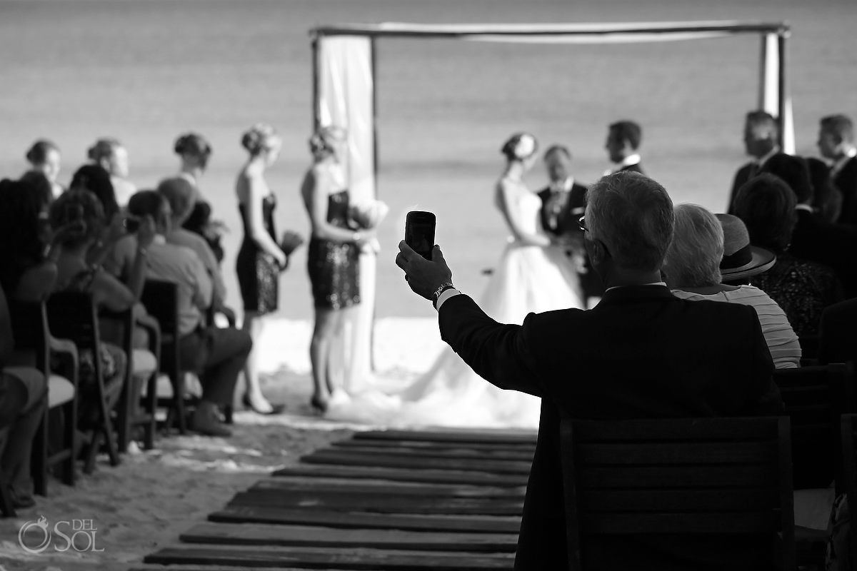 Hotel Esencia wedding ceremony beach