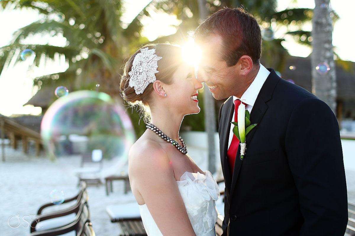 Hotel Esencia wedding beach bride groom