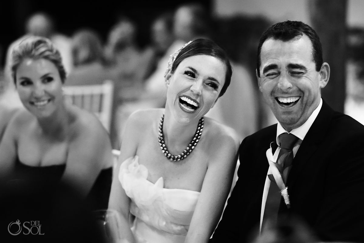 Hotel Esencia wedding bride groom laugh