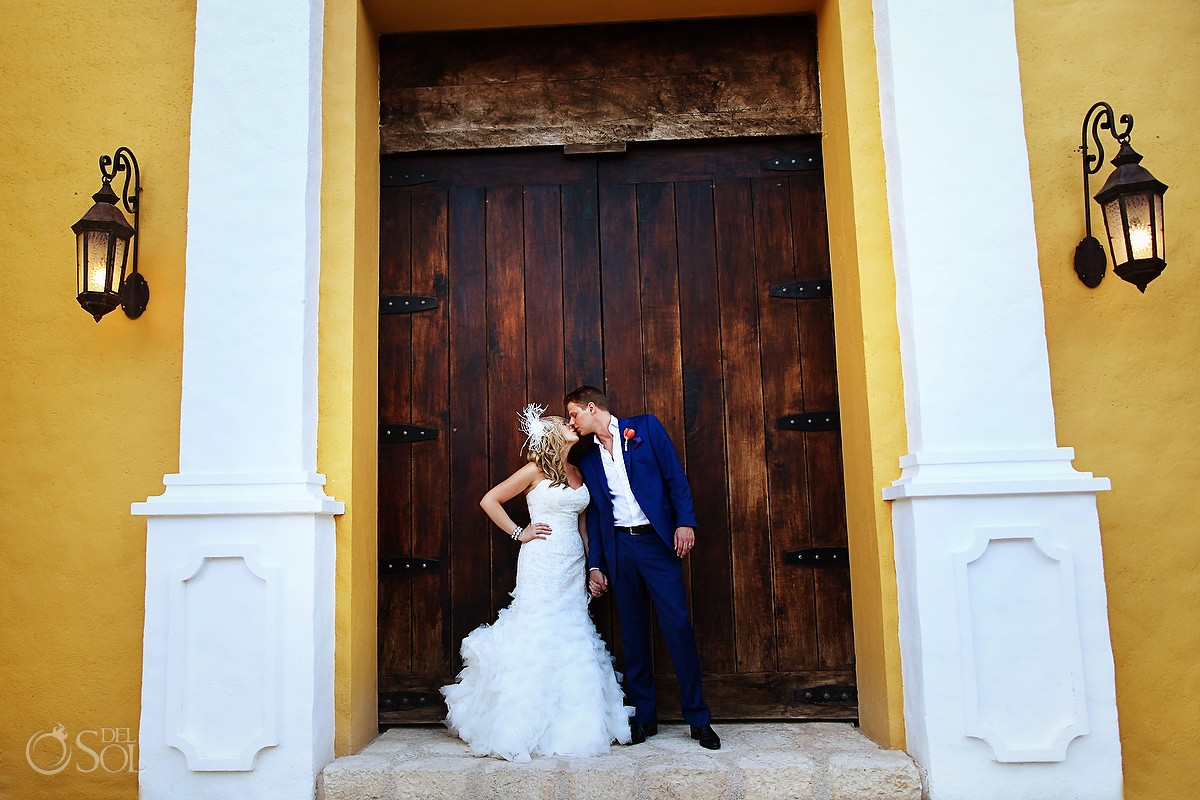 Mexico destination wedding Xcaret Park bride groom