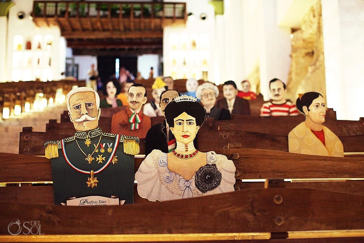 Mexico destination wedding Xcaret Park Capilla de Guadalupe ceremony
