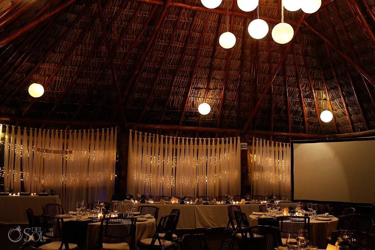 Wedding Tulum Akiin Beach Club restaurant