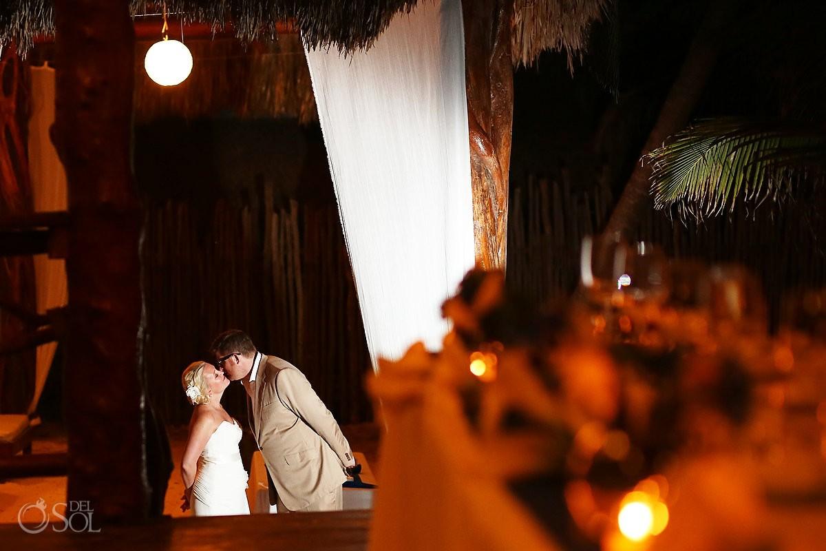 Destination wedding Tulum reception Akiin Beach Club