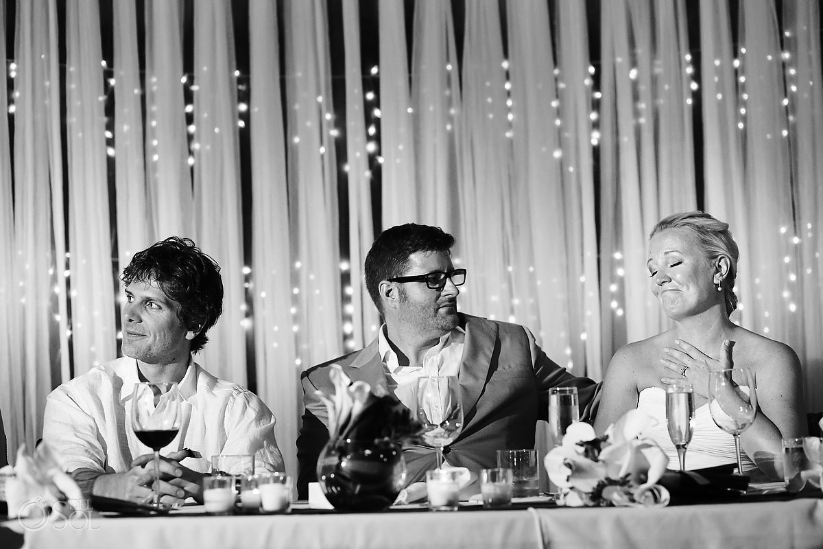 Destination wedding guests Tulum