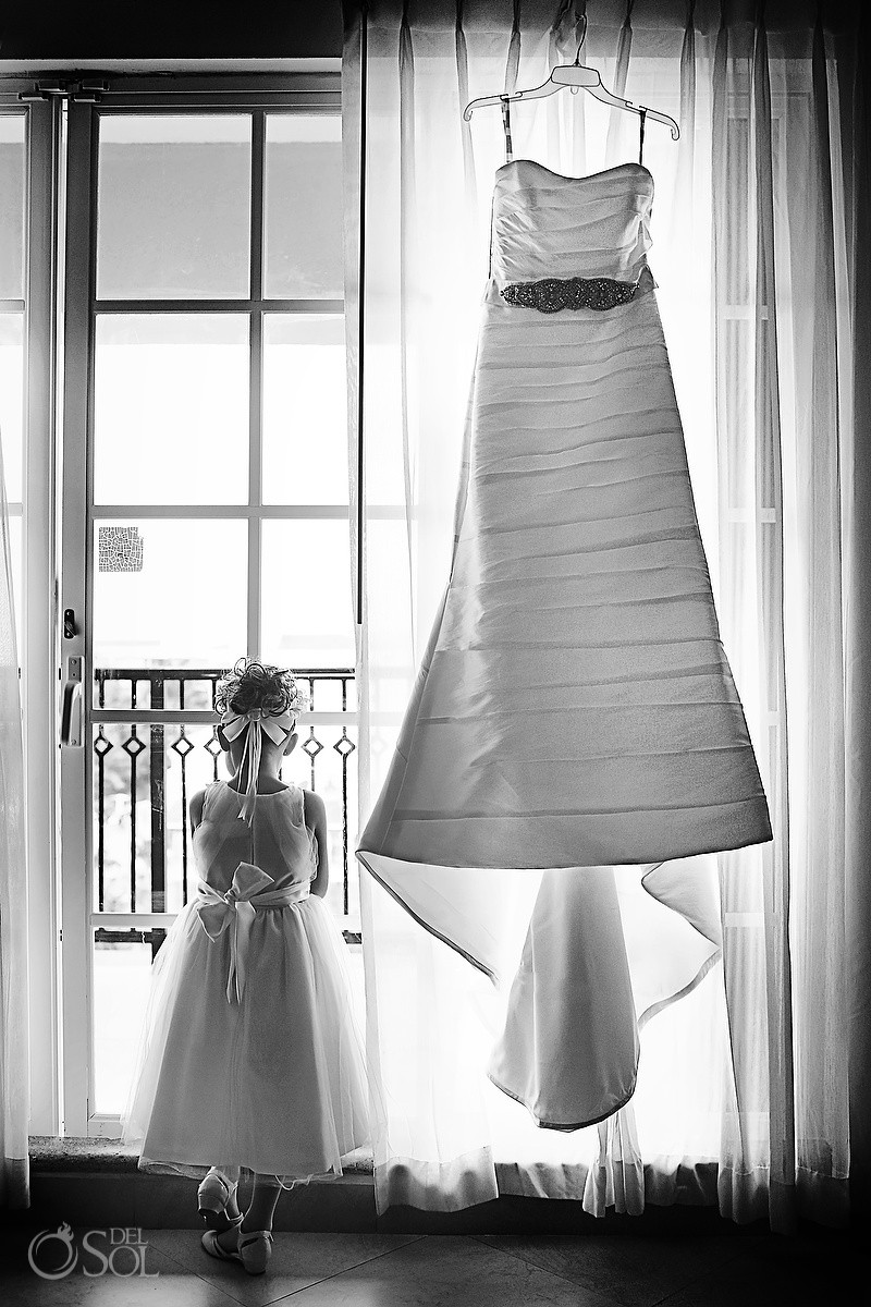 flowergirl with wedding dress