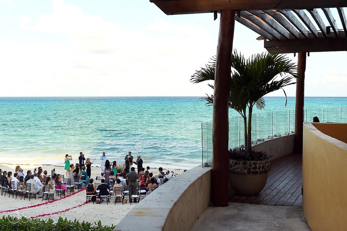Beach Ceremony Wedding Fairmont Mayakoba
