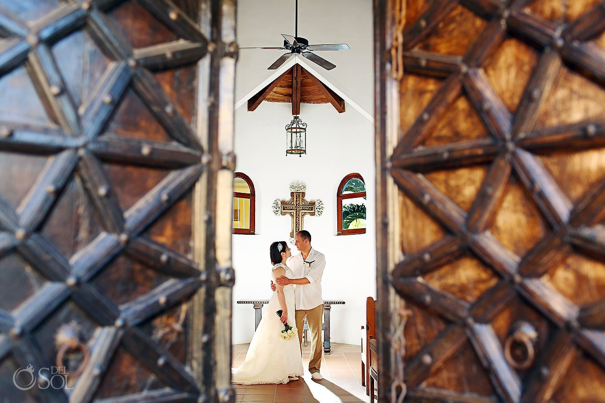 Destination wedding chapel Dreams Tulum