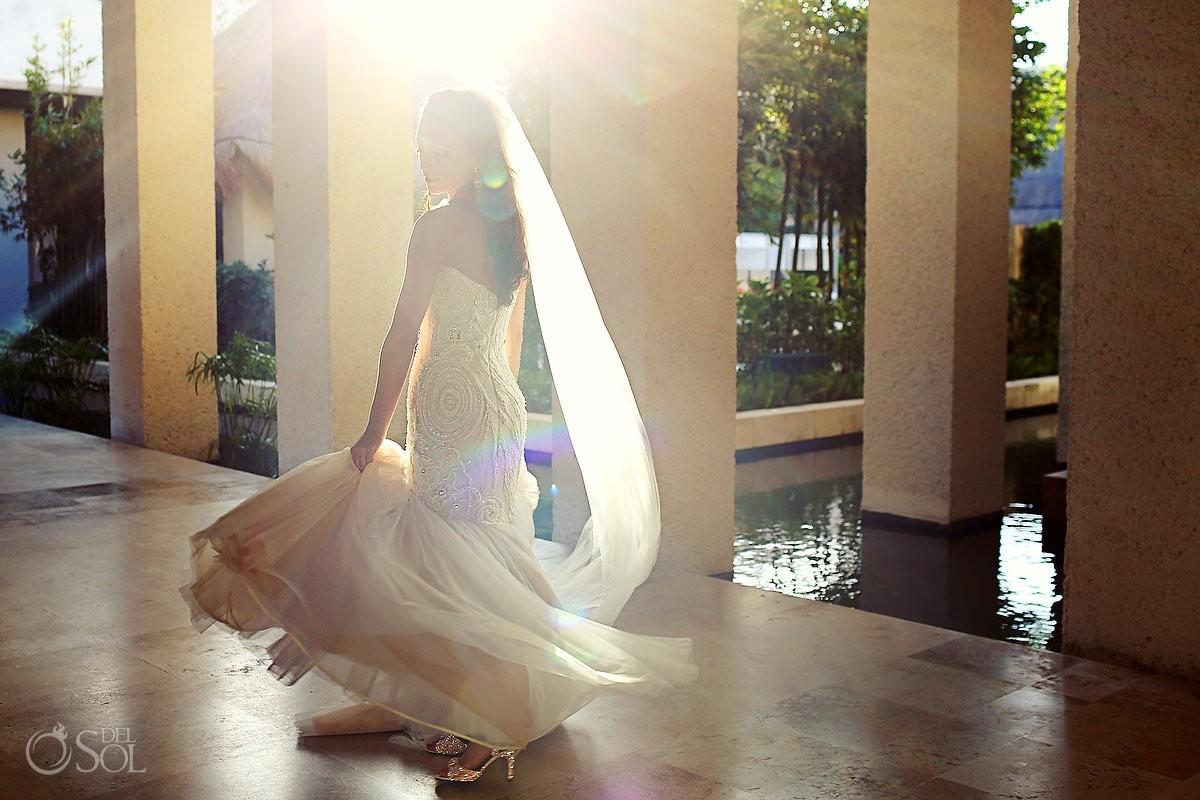 Bride at her destination Wedding at Paradisus La Esmeralda