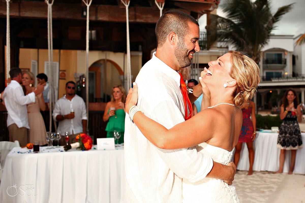 Bride and groom first dance Playa del Carmen