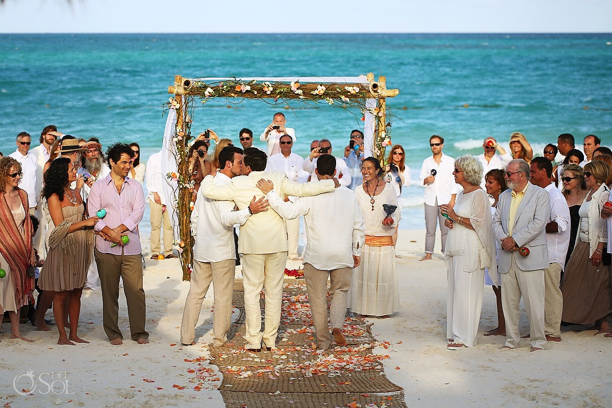 Beach Cosmic wedding ceremony, Belmond Maroma Riviera Maya, Mexico