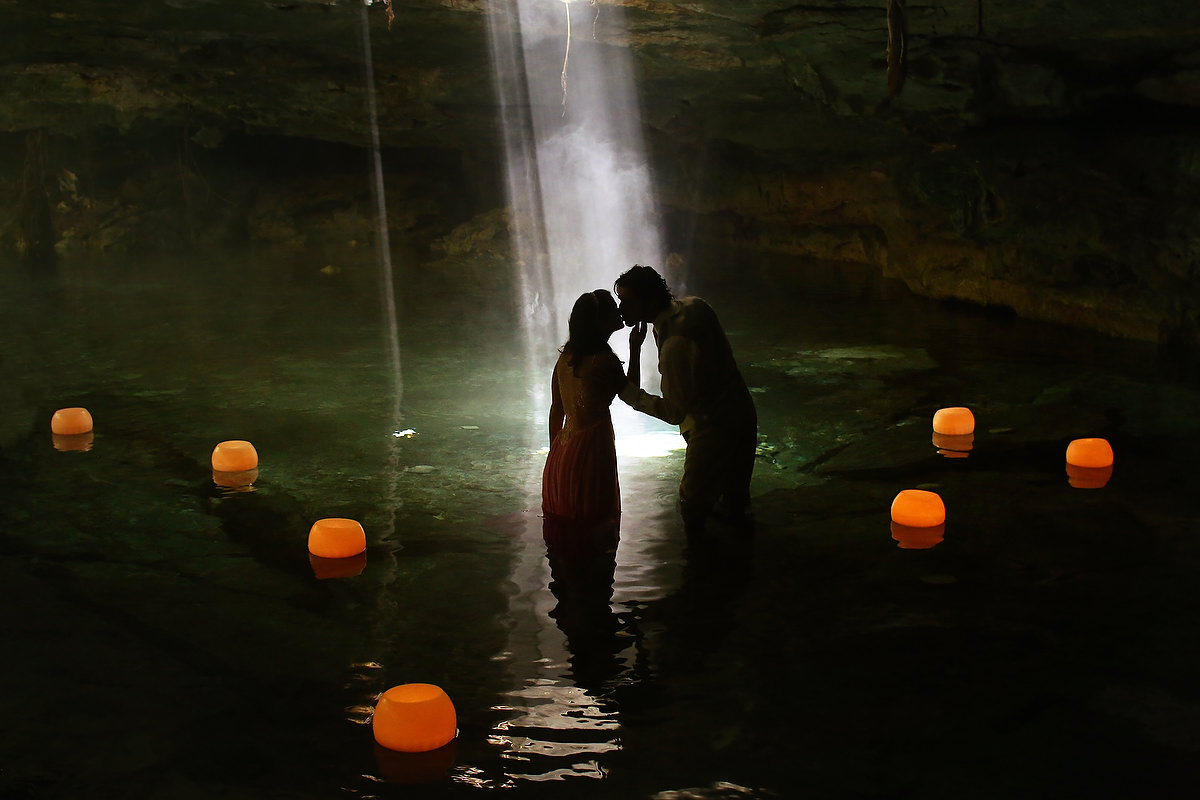 floating candles by Candle Boutique Weddings