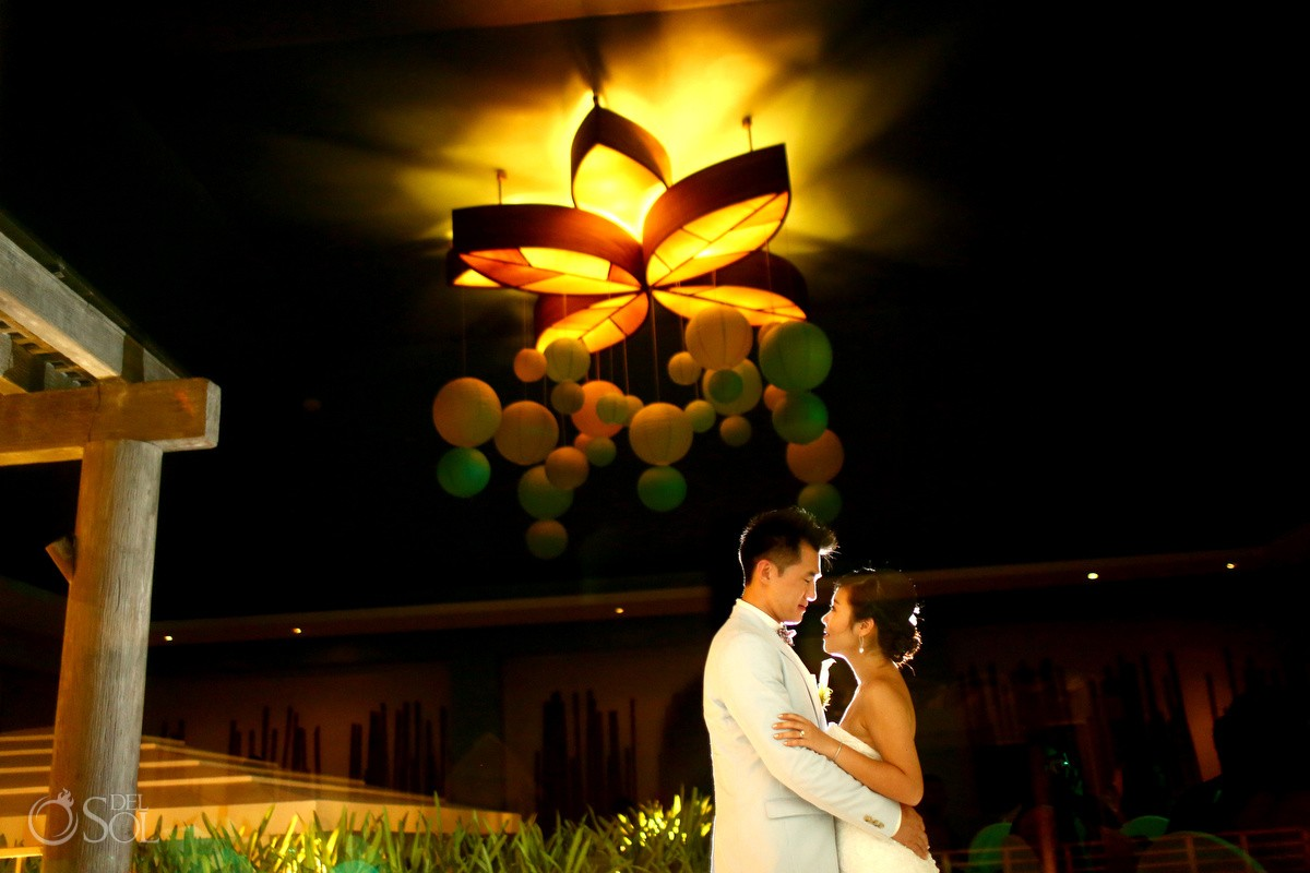 Now Jade wedding reception first dance bamboo room