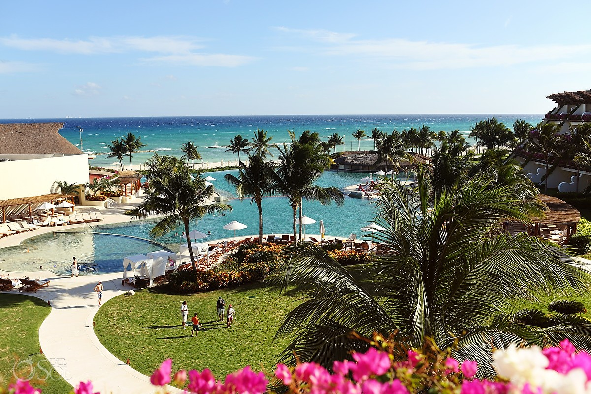 Grand Velas Riviera Maya pool and ocean view