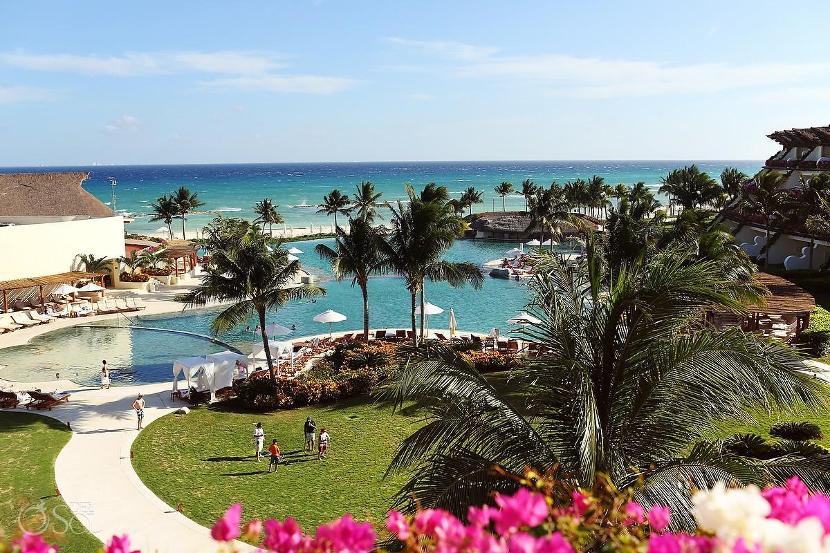 Grand Velas Riviera Maya pool and ocean view