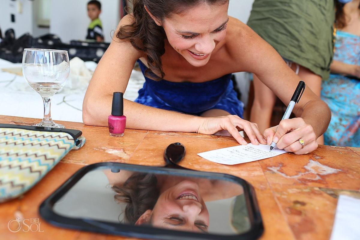 Riviera Maya wedding bride getting ready