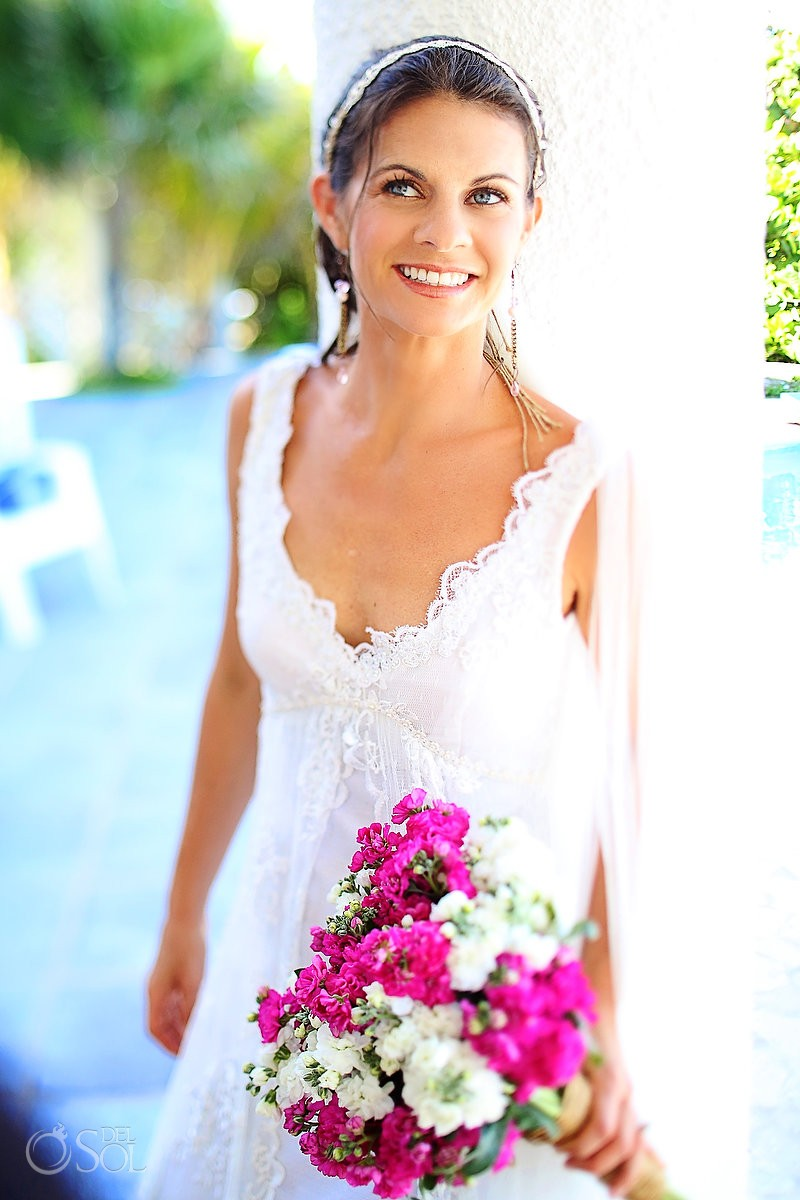 Riviera Maya wedding bride portrait
