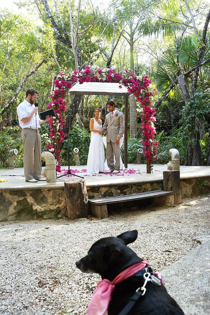 Riviera Maya wedding altar Pueblo Sacbe
