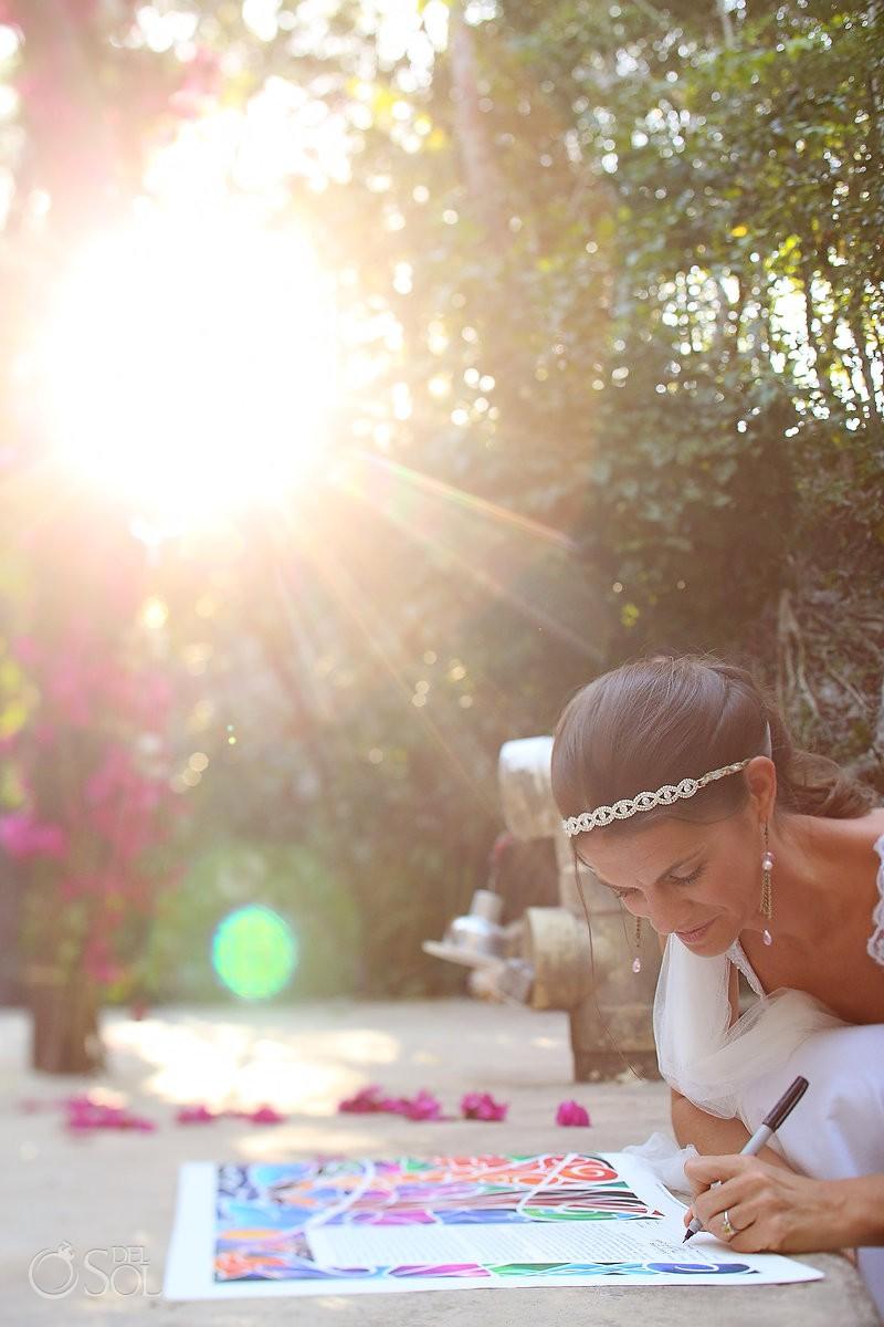 Riviera Maya wedding ceremony Pueblo Sacbe