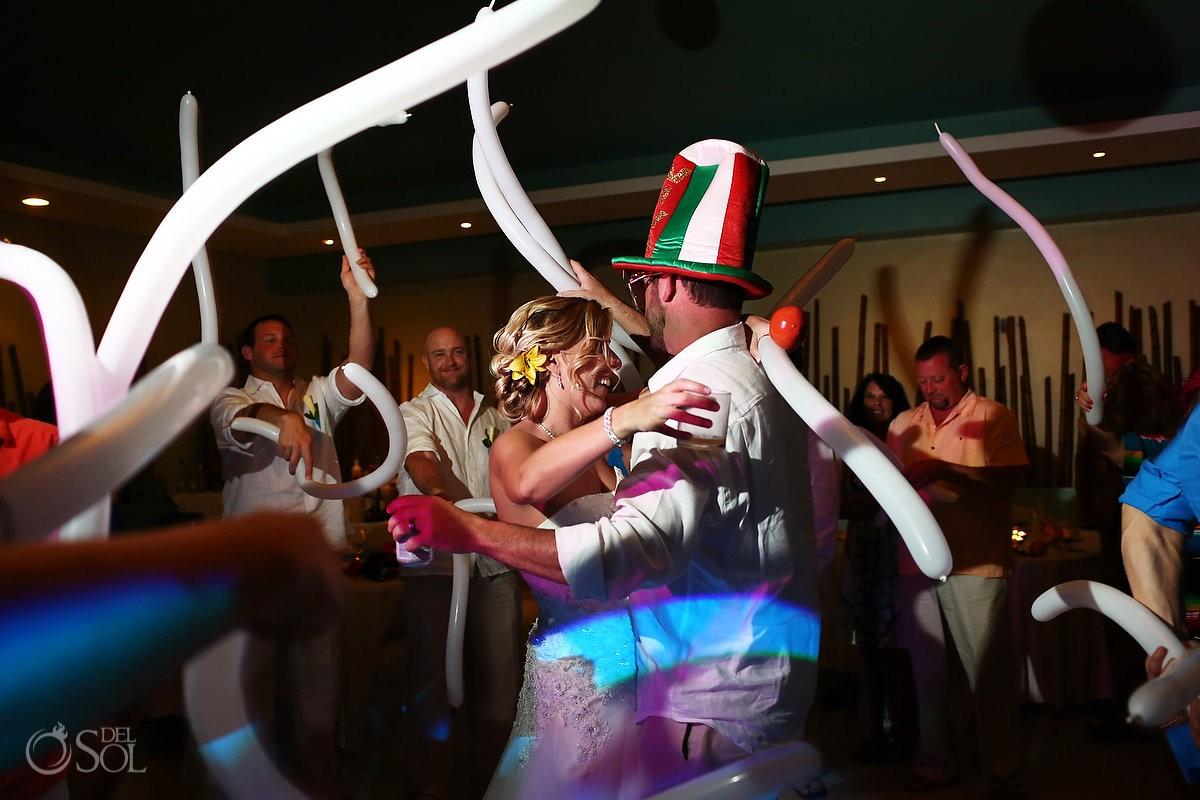 Wedding reception at Now Jade Resort Mexico