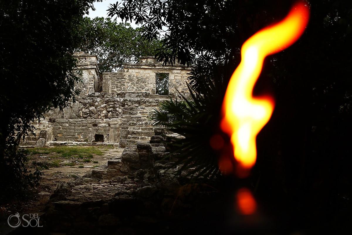 Xcaret Park ancient Maya temple