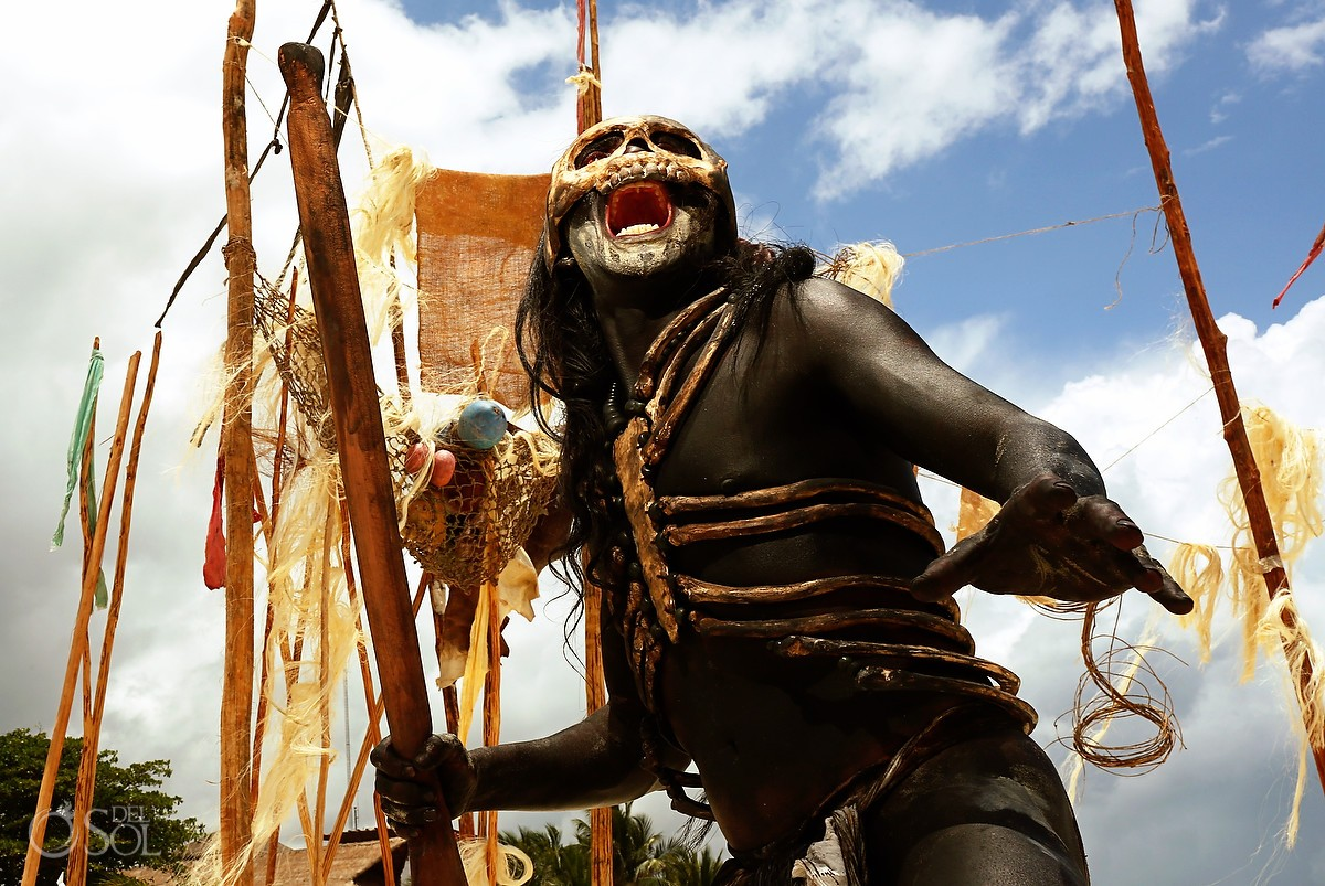 Mayan warrior skull mask Sacred Mayan Journey