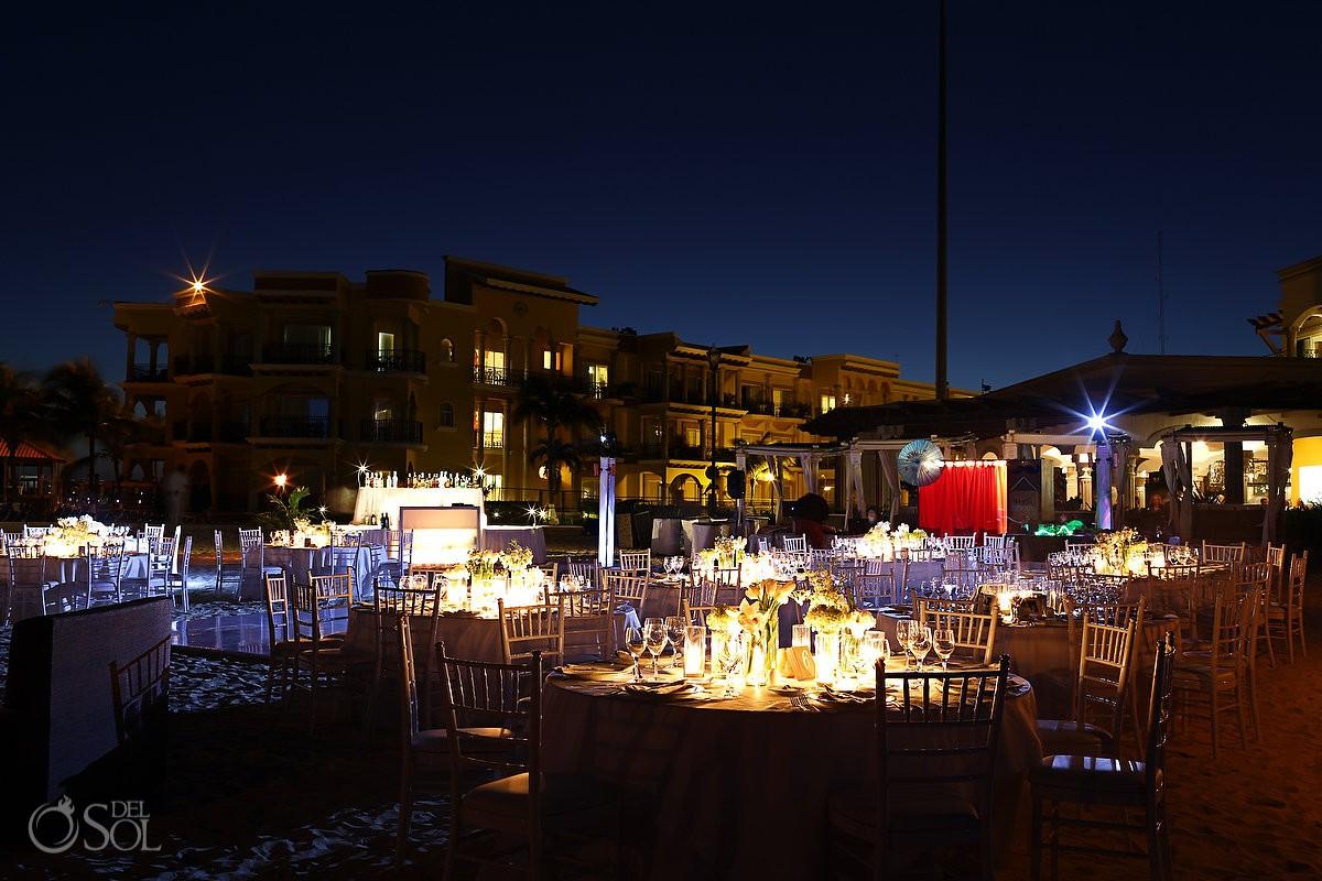 Wedding reception at The Royal Playa del Carmen, Mexico