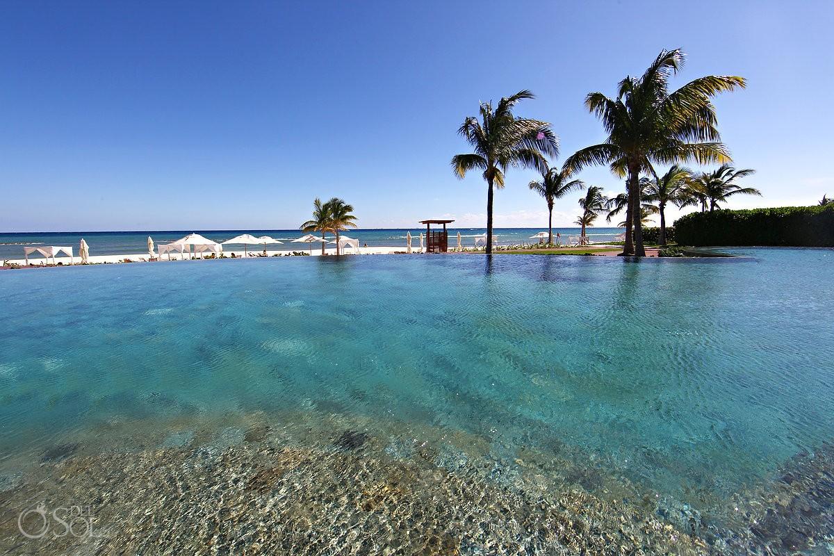 Grand Velas Riviera Maya luxury resort infinity pool Caribbean beach