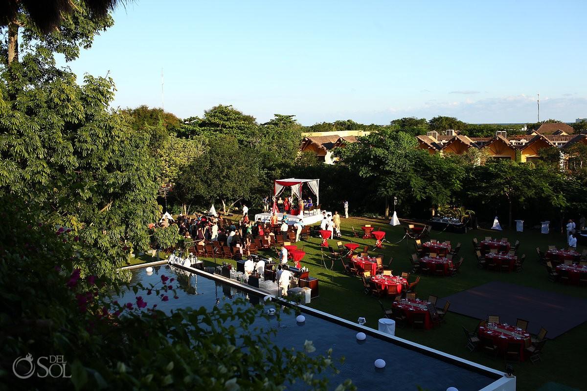 Zen Garden Hindu wedding set up Grand Velas Riviera Maya weddings Mexico